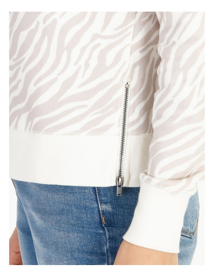 Raglan Sleeve Zip Side Sweat Top image 4