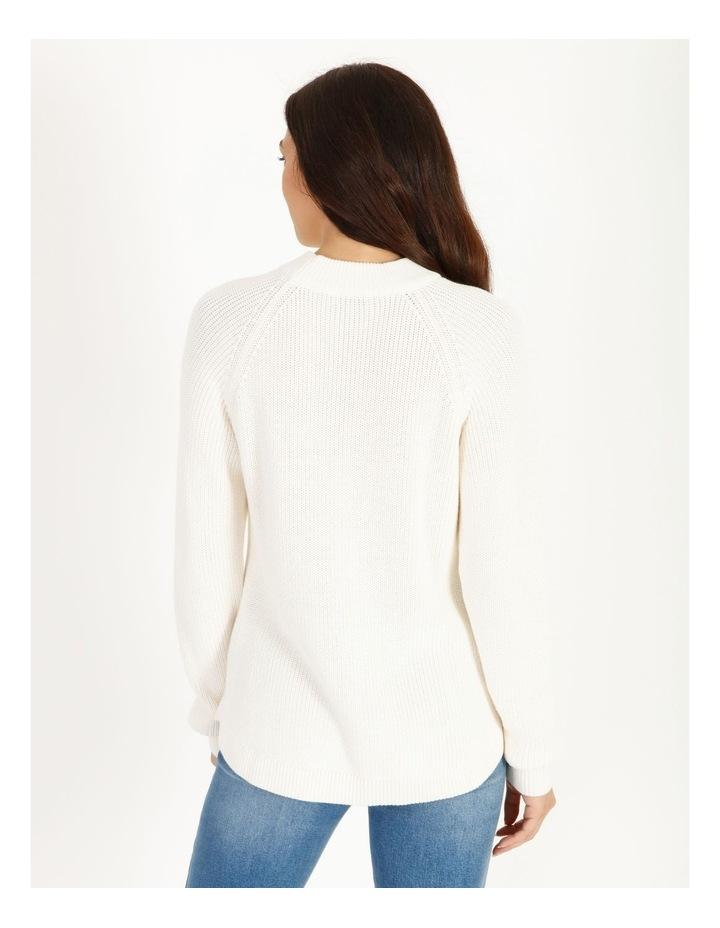 Stand Neck Button Shoulder Jumper image 3