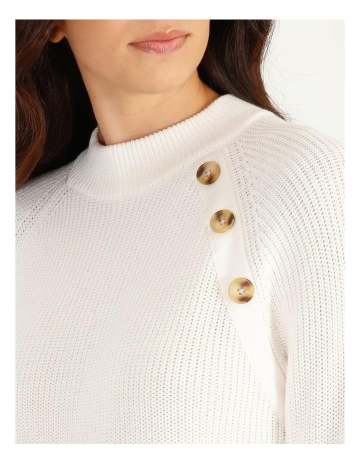Stand Neck Button Shoulder Jumper image 4