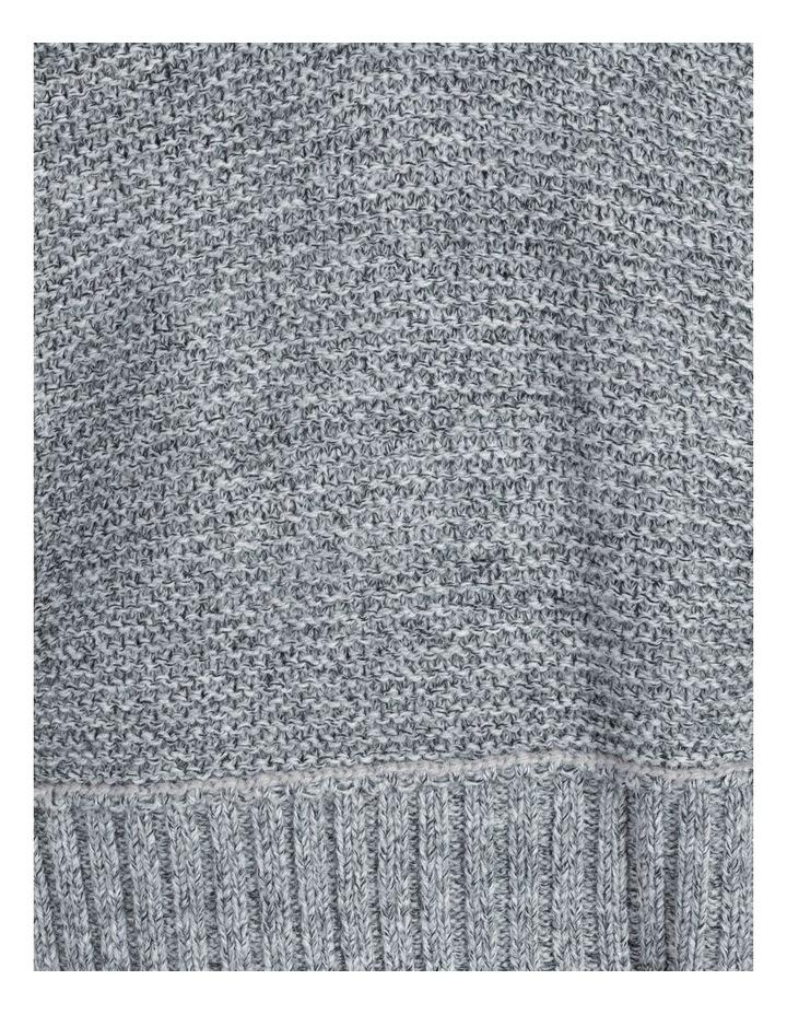 V Neck Exposed Seam Knit image 6