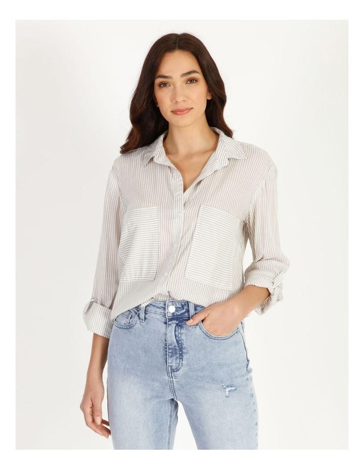 Relaxed Utility Stripe Shirt image 1