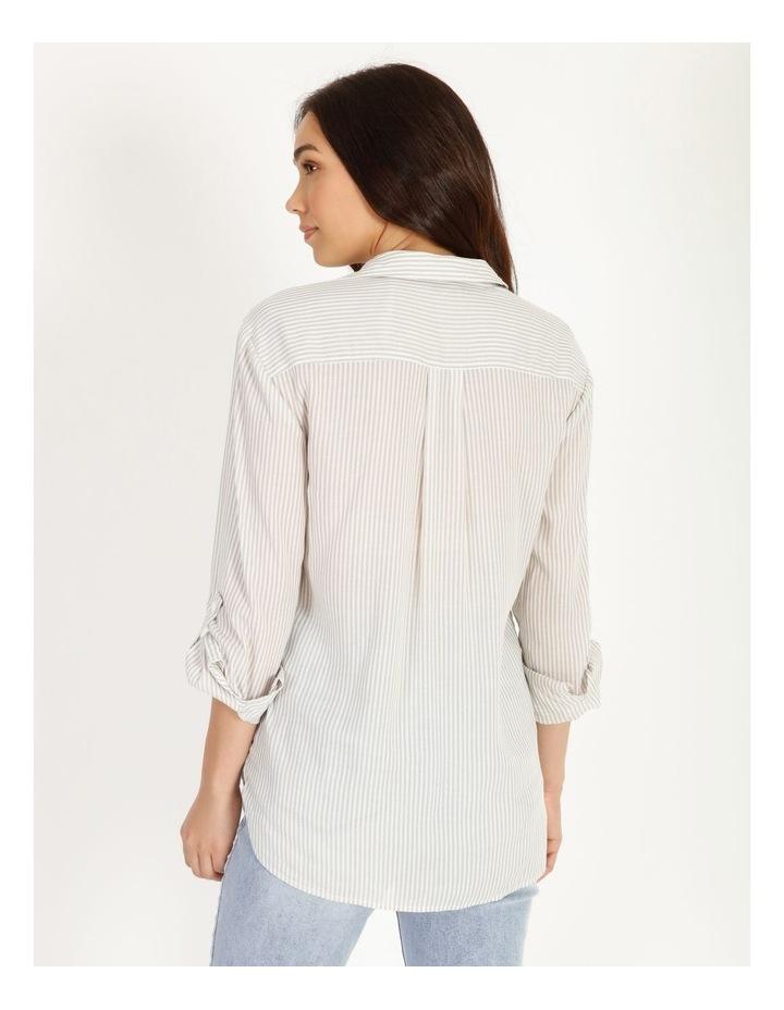Relaxed Utility Stripe Shirt image 4