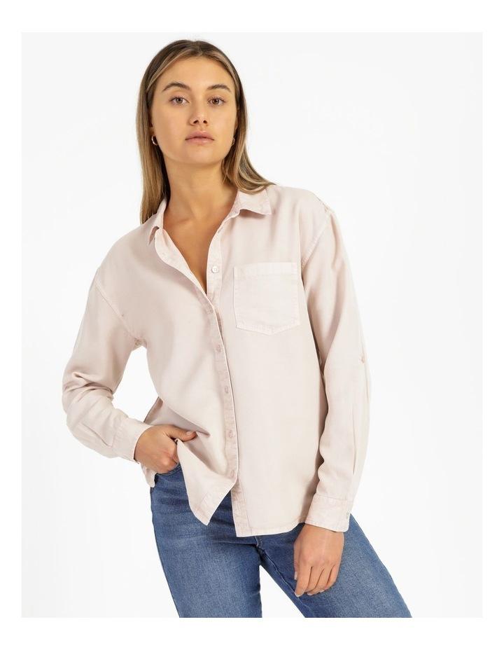 Lyocell Long Sleeve Relaxed Shirt image 1