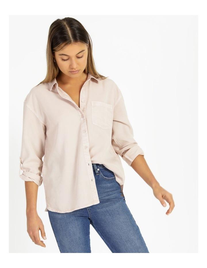 Lyocell Long Sleeve Relaxed Shirt image 2
