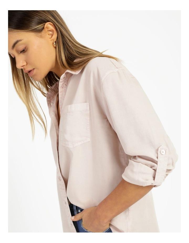 Lyocell Long Sleeve Relaxed Shirt image 5