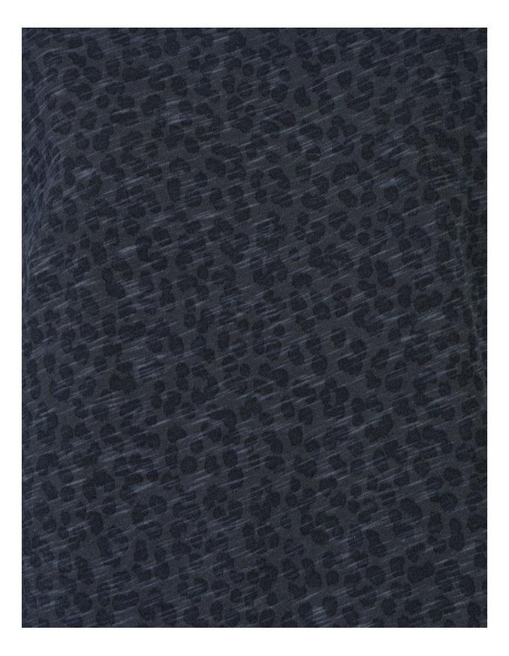 Puff Sleeve Tee Indigo Leopard Print image 7