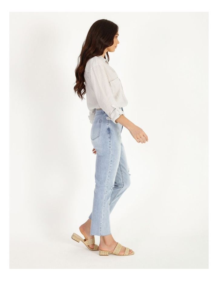 High Rise Straight Distressed Jean image 2