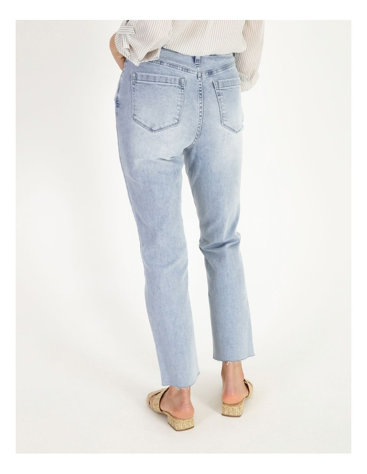 High Rise Straight Distressed Jean image 3