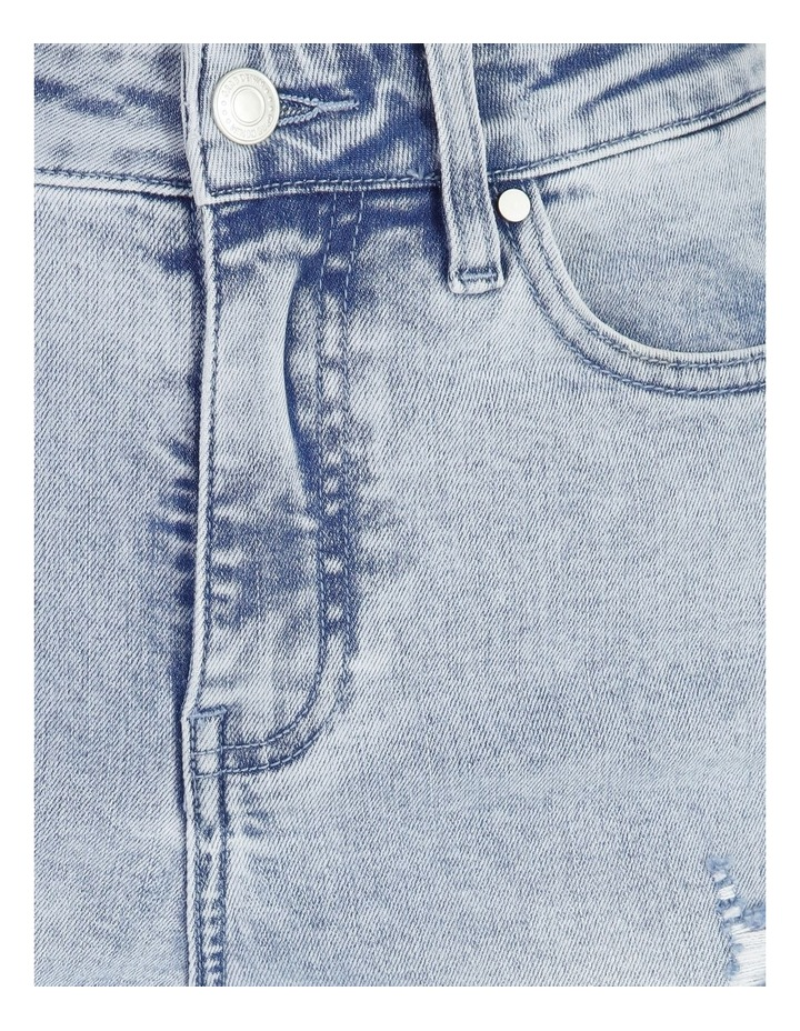 High Rise Straight Distressed Jean image 5