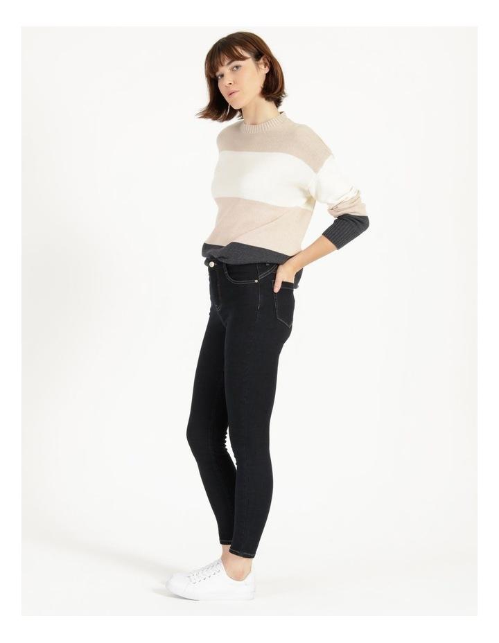Premium Shapewear Dark Blue Skinny Jean image 4