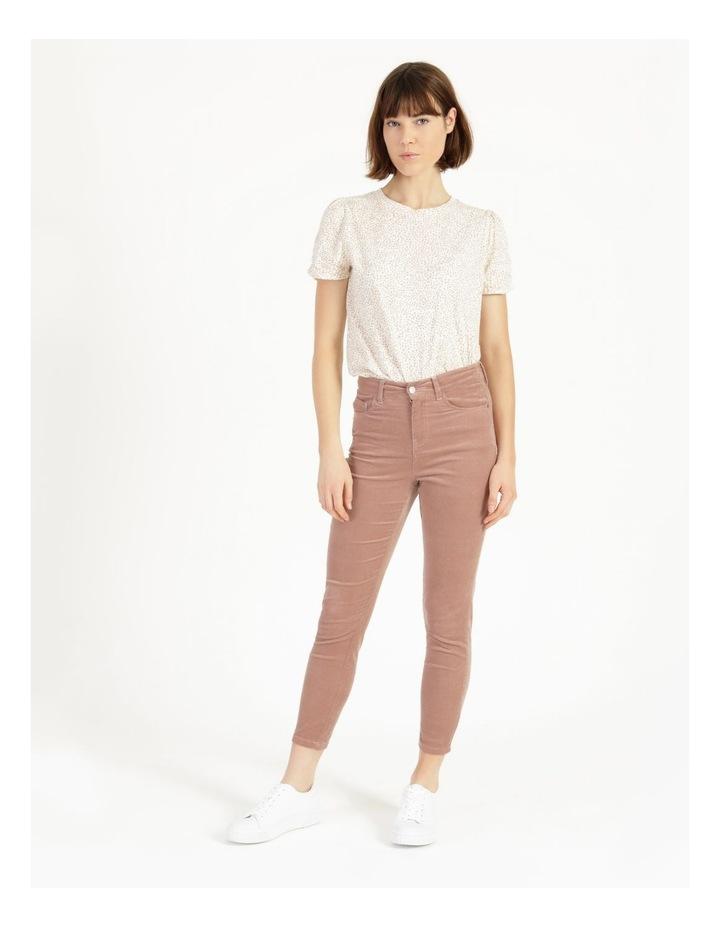 Soft Cord Mauve High Rise Skinny Jean image 1