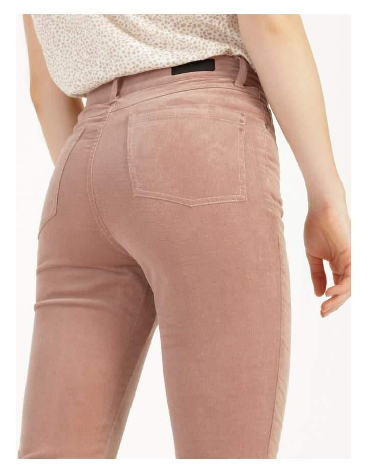 Soft Cord Mauve High Rise Skinny Jean image 2