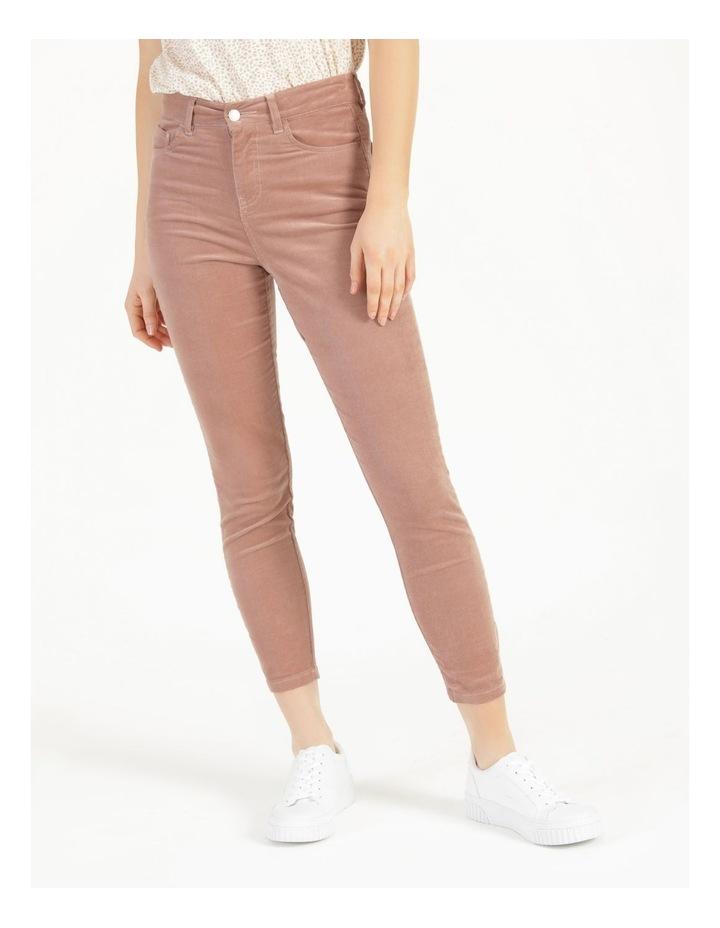 Soft Cord Mauve High Rise Skinny Jean image 3