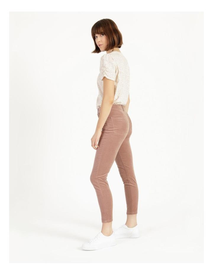 Soft Cord Mauve High Rise Skinny Jean image 4