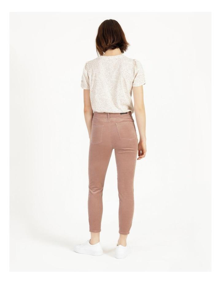 Soft Cord Mauve High Rise Skinny Jean image 5