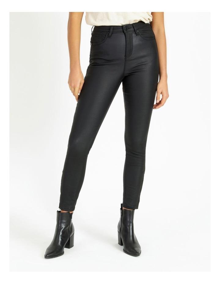 High Rise Skinny Coated Jean image 1