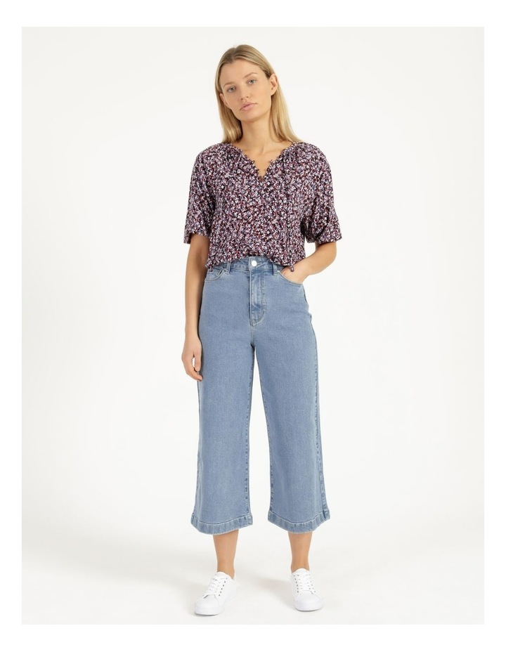 Bright Blue High Waisted Wide Leg Jean image 1