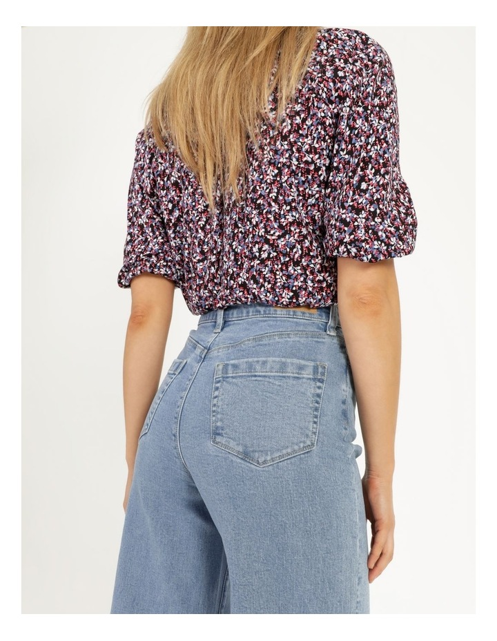 Bright Blue High Waisted Wide Leg Jean image 2