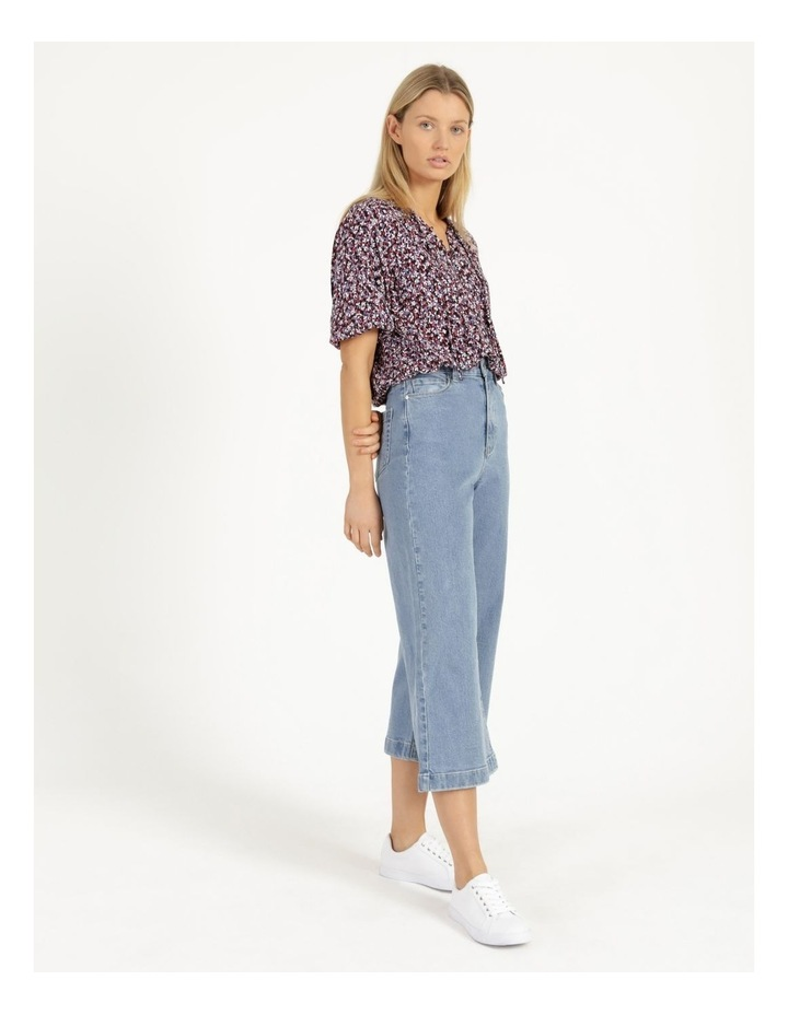 Bright Blue High Waisted Wide Leg Jean image 4