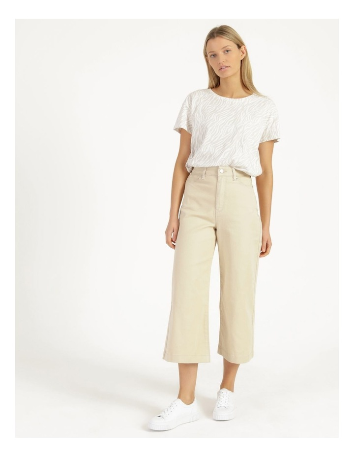Natural High Waisted Wide Leg Jean image 1