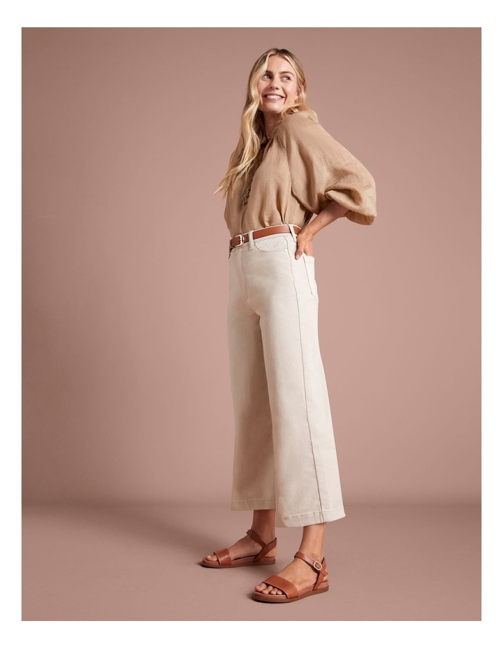 Natural High Waisted Wide Leg Jean image 2