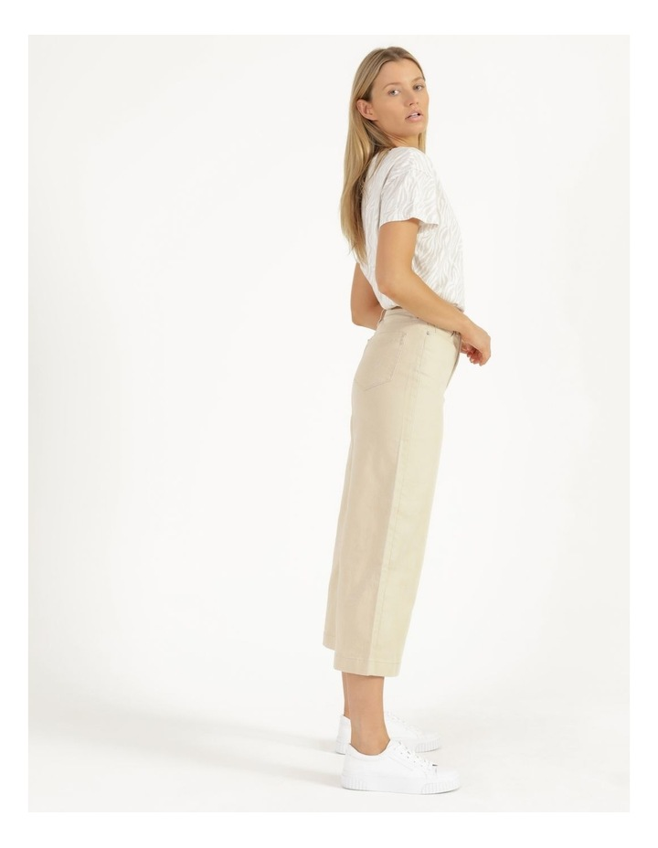 Natural High Waisted Wide Leg Jean image 5
