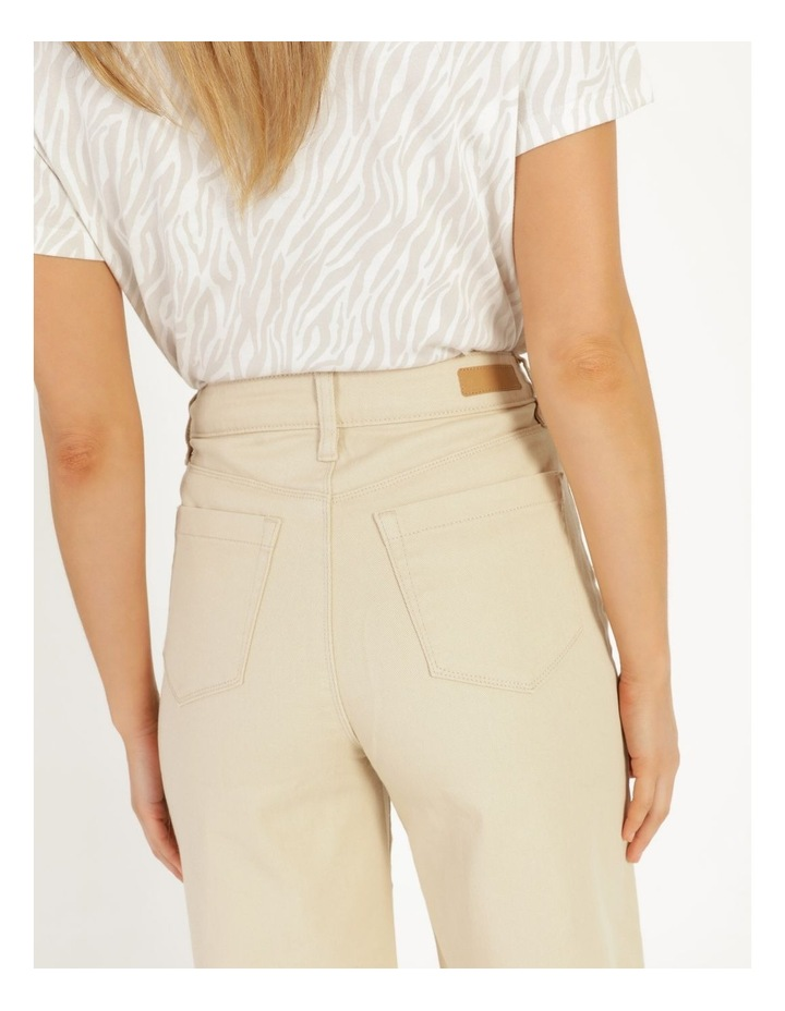 Natural High Waisted Wide Leg Jean image 7