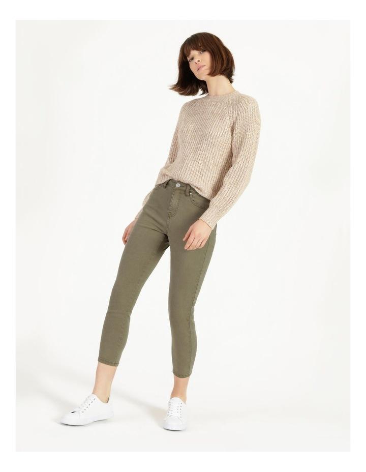Olivia Crop High Rise Skinny Jean Khaki image 1