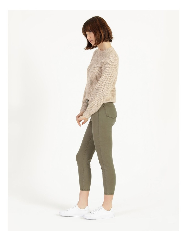 Olivia Crop High Rise Skinny Jean Khaki image 5