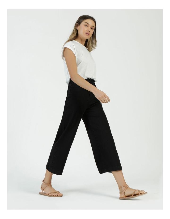 Wide Leg Jean Black image 5
