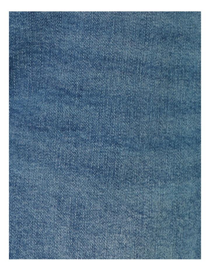 Cuffed Denim Short Mid Blue image 7
