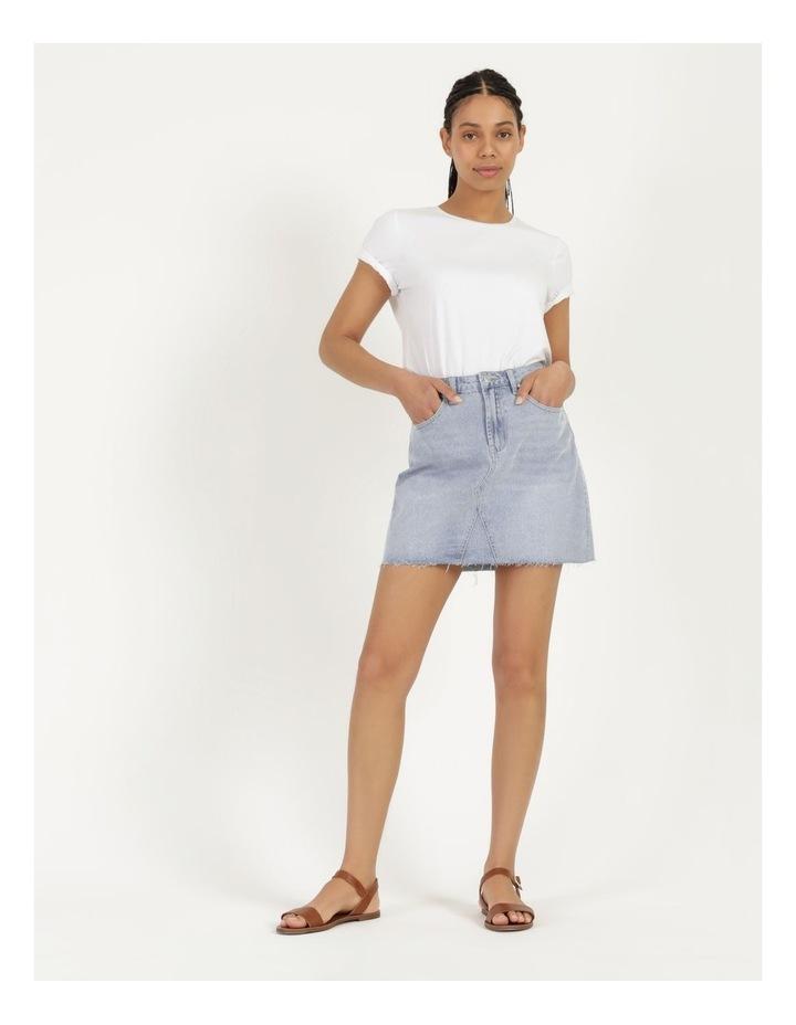 Cut Off Denim Skirt Vintage Blue image 1
