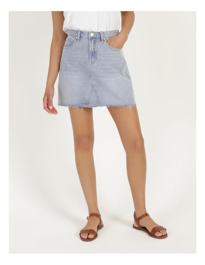 Cut Off Denim Skirt Vintage Blue image 2