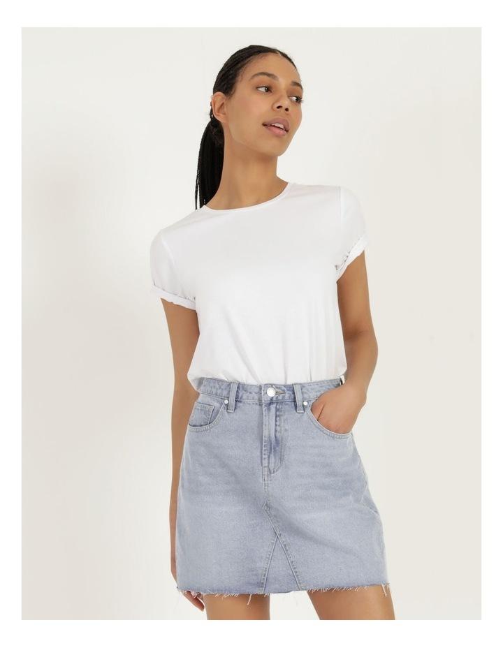 Cut Off Denim Skirt Vintage Blue image 3