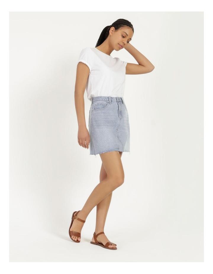 Cut Off Denim Skirt Vintage Blue image 4