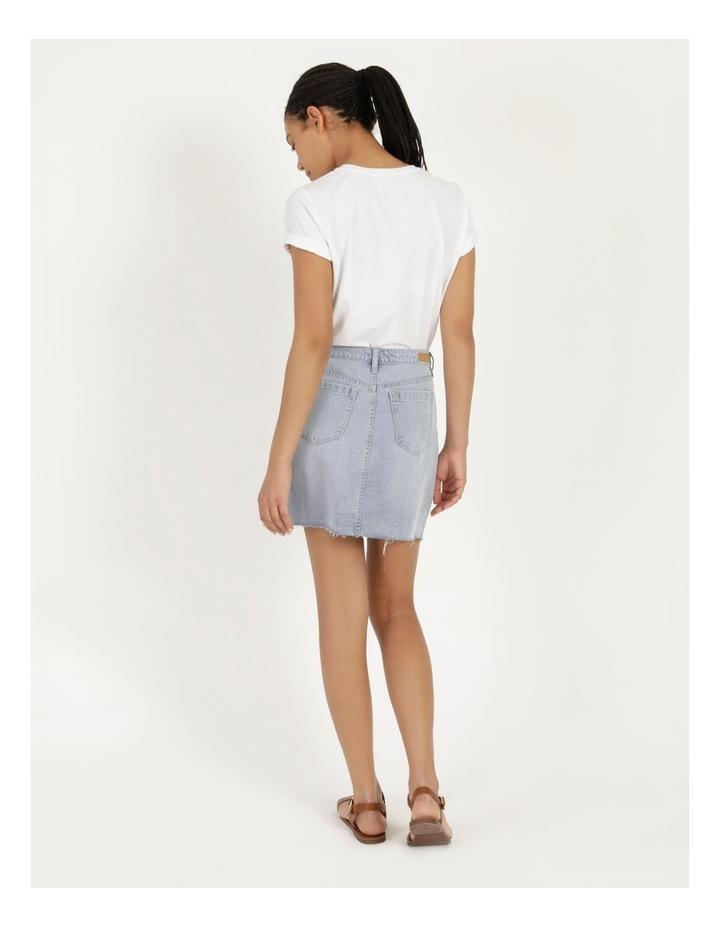 Cut Off Denim Skirt Vintage Blue image 5