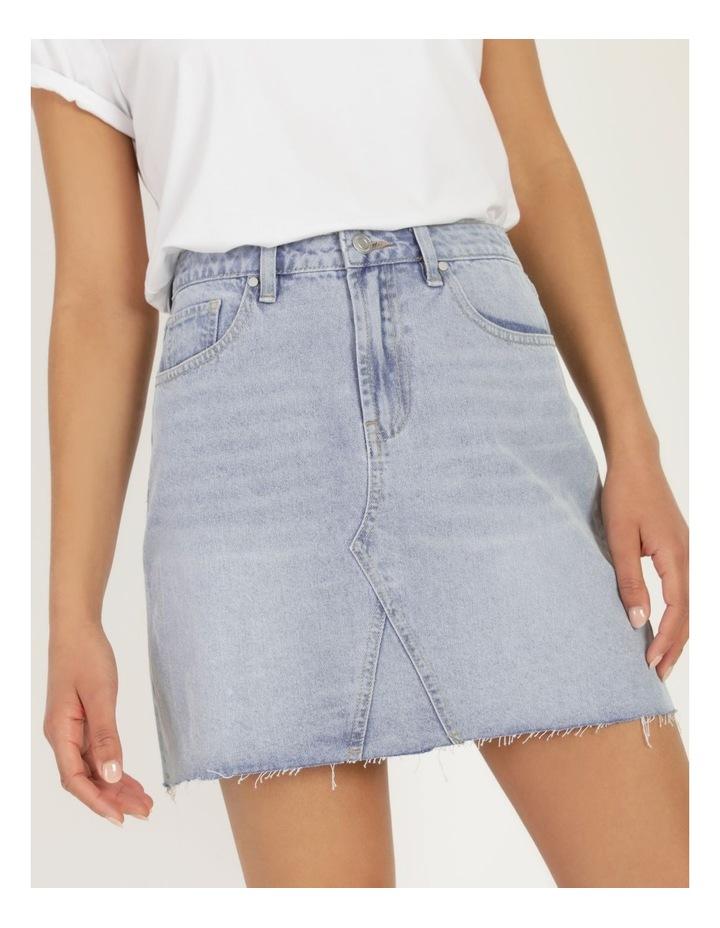 Cut Off Denim Skirt Vintage Blue image 6