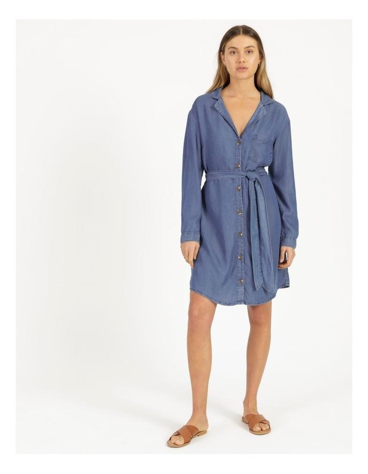 Long Sleeve Button Through Lyocell Dress image 2