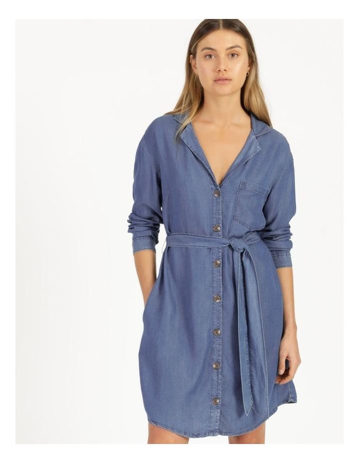 Long Sleeve Button Through Lyocell Dress image 3