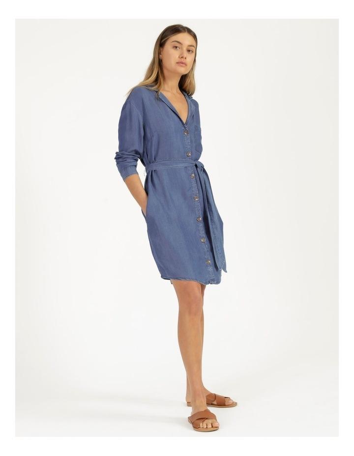Long Sleeve Button Through Lyocell Dress image 4