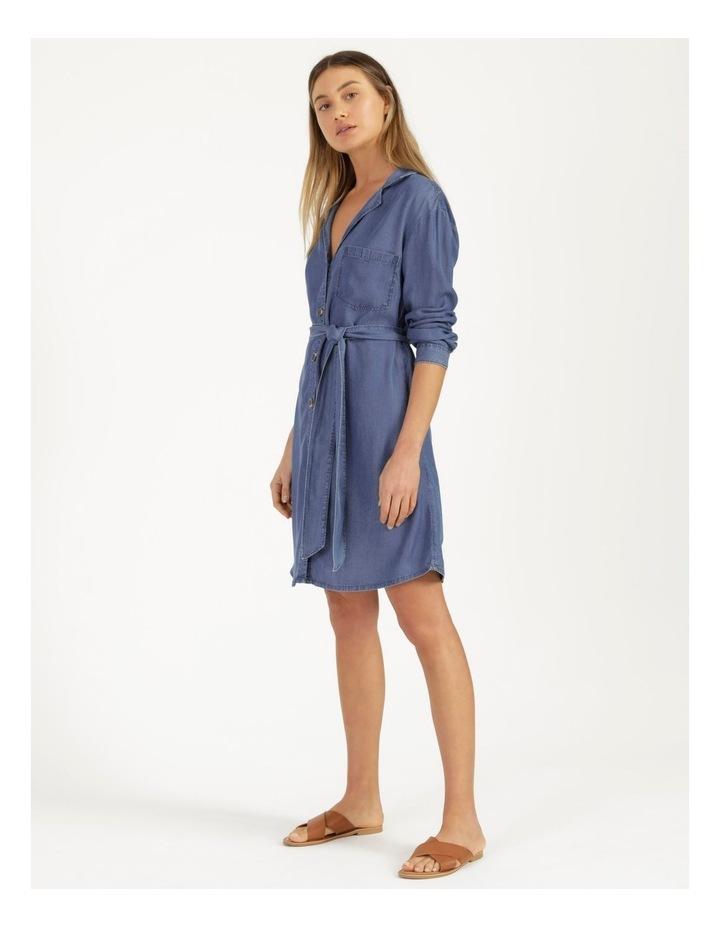Long Sleeve Button Through Lyocell Dress image 5