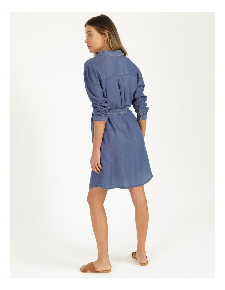 Long Sleeve Button Through Lyocell Dress image 6