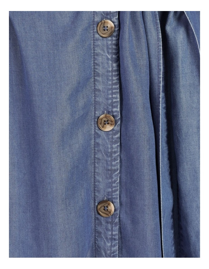 Long Sleeve Button Through Lyocell Dress image 7
