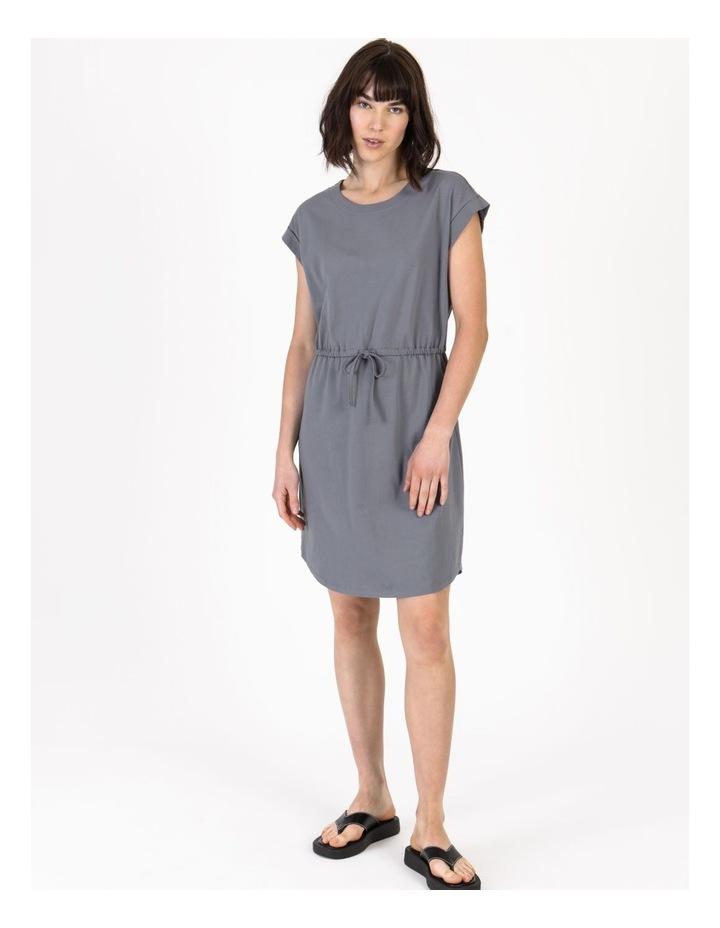Tie Waist T-Shirt Dress Faded Ink image 1