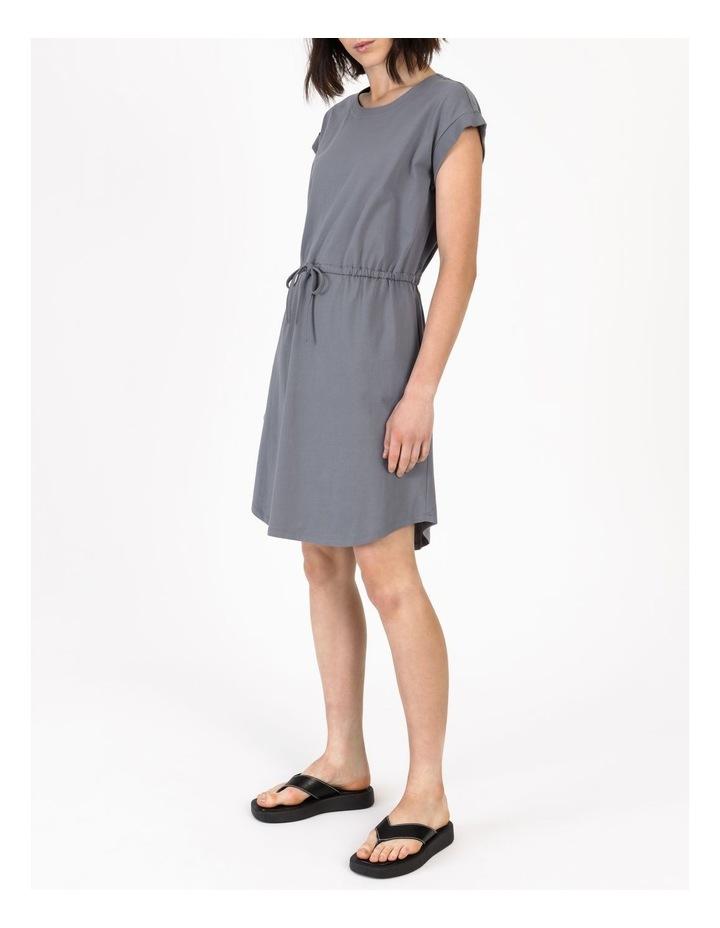 Tie Waist T-Shirt Dress Faded Ink image 2