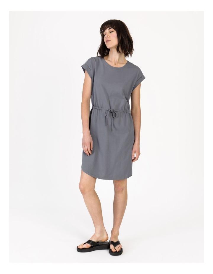 Tie Waist T-Shirt Dress Faded Ink image 3