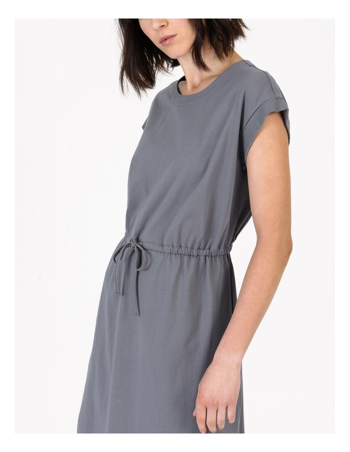 Tie Waist T-Shirt Dress Faded Ink image 4