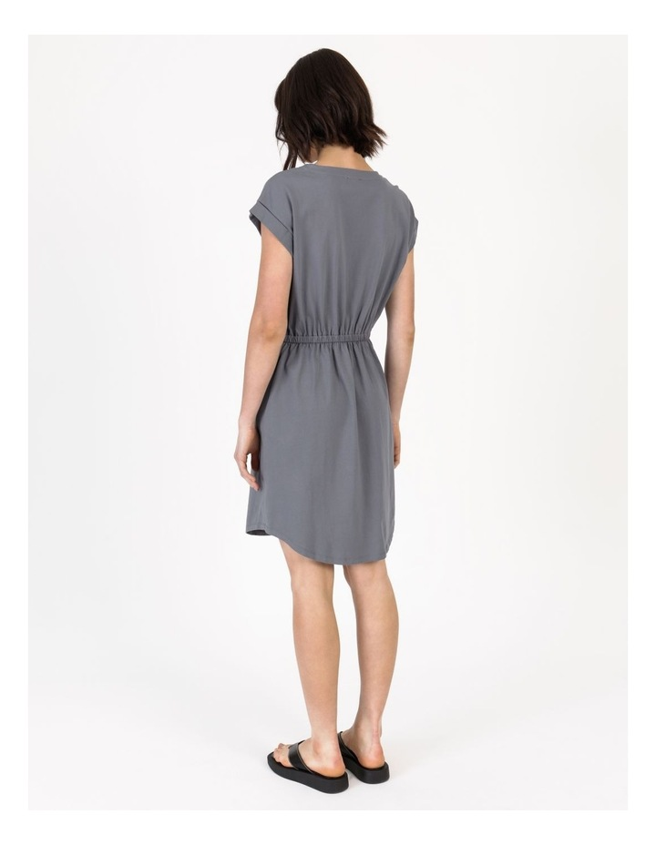 Tie Waist T-Shirt Dress Faded Ink image 5