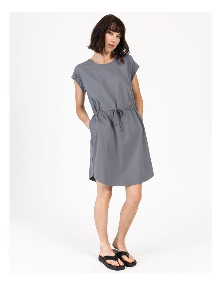 Tie Waist T-Shirt Dress Faded Ink image 6