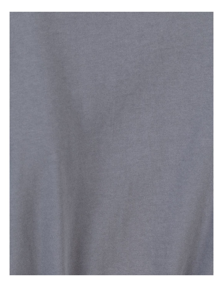 Tie Waist T-Shirt Dress Faded Ink image 7
